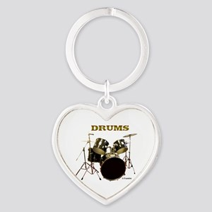 DRUMS Heart Keychain